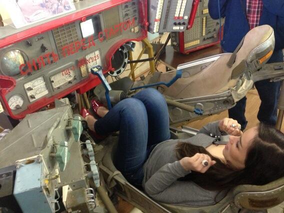 Виктория почувствовала, каково быть космонавтом