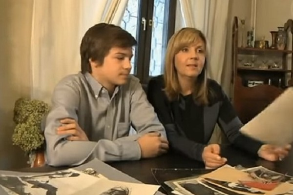 Дочь Анатолия Кузнецова Ирина с сыном