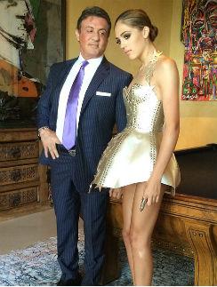 Сильвестр Сталлоне с дочкой Систин