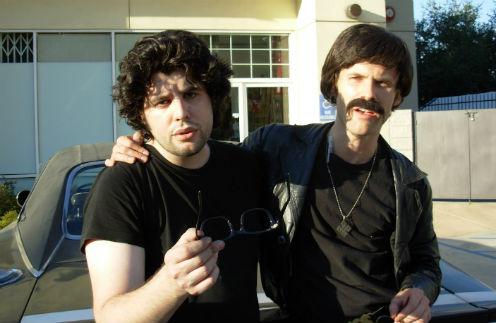 Сэйдж Сталлоне с близким другом Стивеном Возняком на костюмированной вечеринке