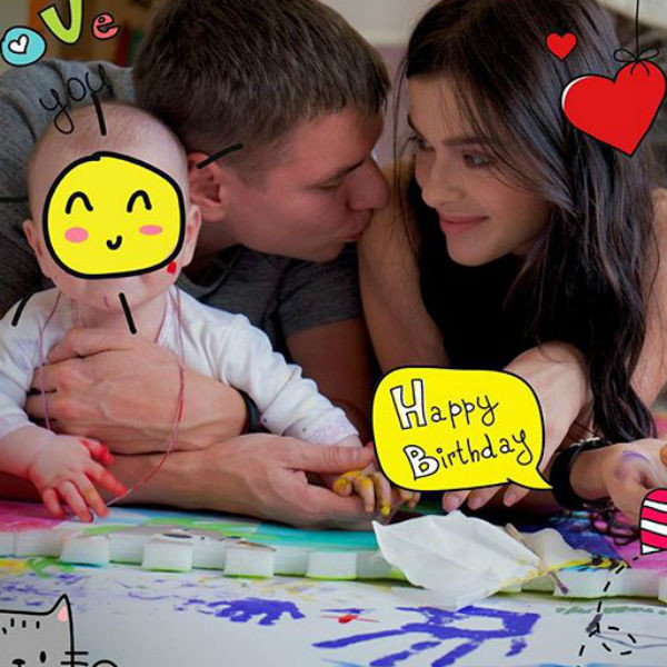 В день рождения мужа Лена опубликовала первый семейный портрет