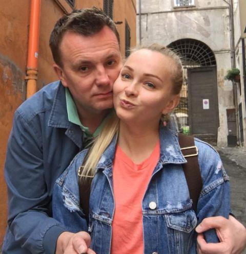 Генеральный продюсер реалити-шоу Алексей Михайловский с женой Натальей Варвиной