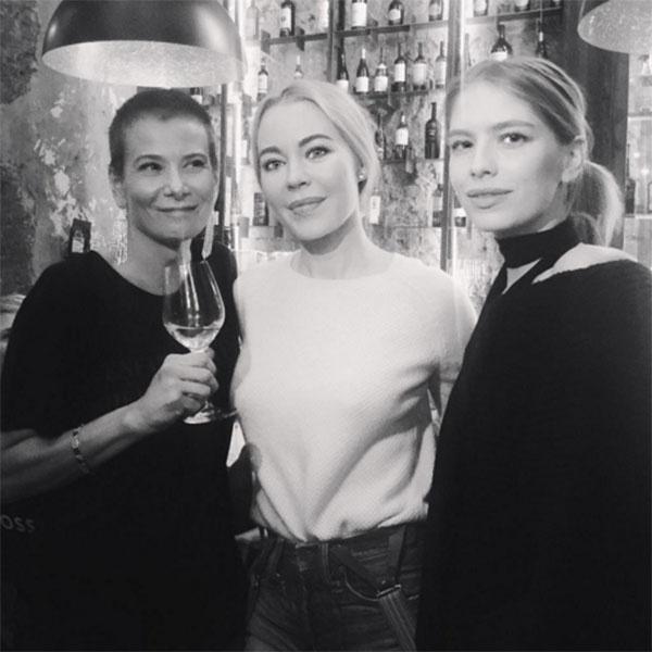 Юлия Высоцкая, Ульяна Сергеенко и Елена Перминова