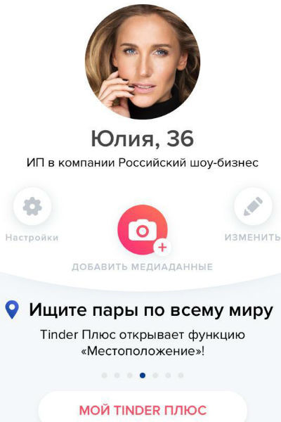 Анкета Юлии Ковальчук на сайте знакомств