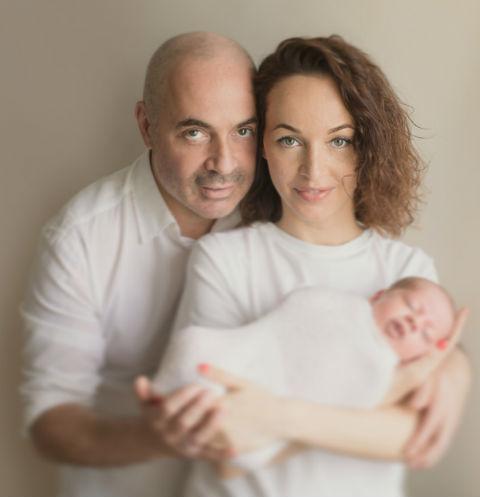 Михаил Грушевский и его супруга Евгения с сыном