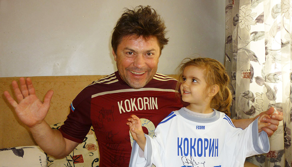 Сергей Белоголовцев с внучкой Евой
