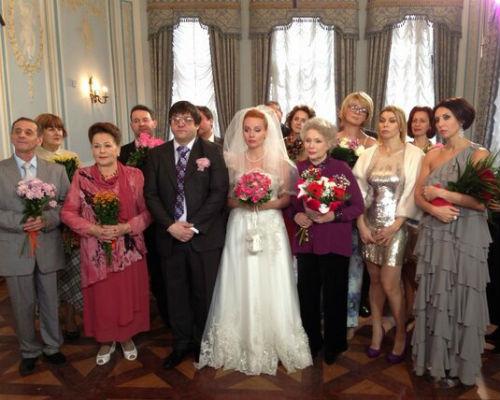 Во время съемок свадебной сцены