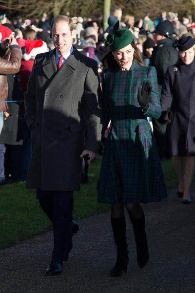 Уильям и Кейт держались за руки