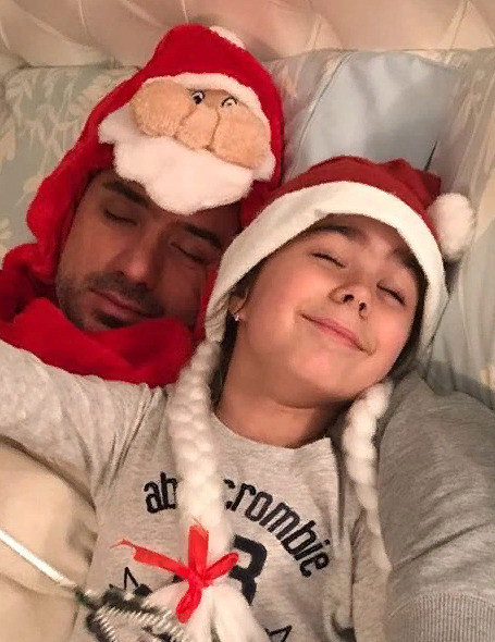 Мурат Налчаджиоглу с дочерью Софией
