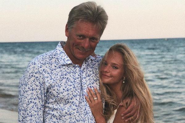 Дмитрий Песков с дочерью Лизой