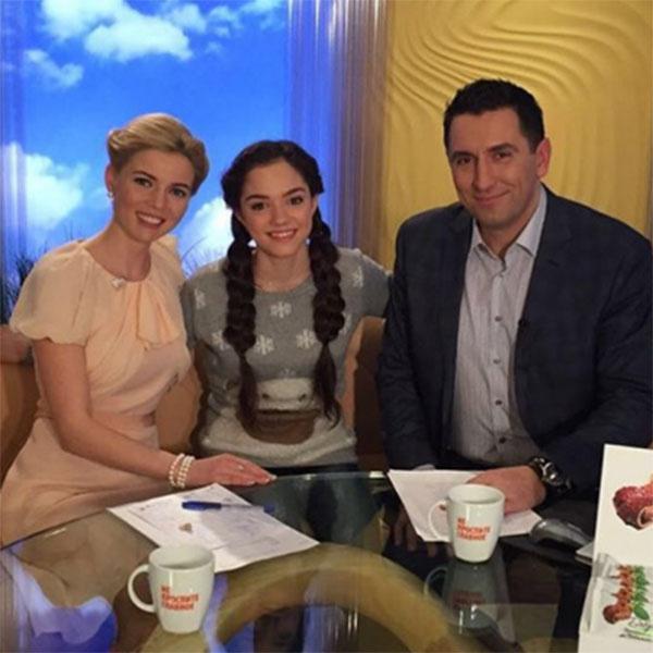 В канун чемпионата мира Евгения Медведева дала интервью ведущим телеканала «Россия»