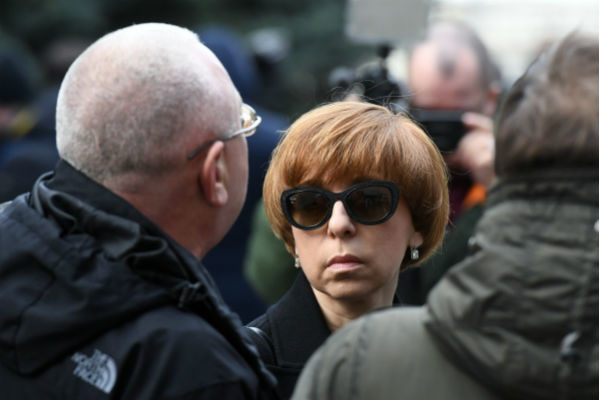 Марианна Максимовская также посетила похороны