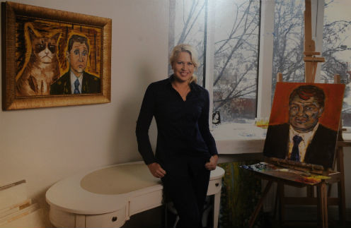 Этот портрет экс-министра обороны Евгения нарисовала сама