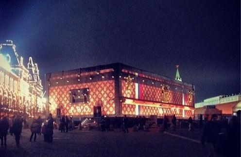 Чемодан-выставка на Красной площади