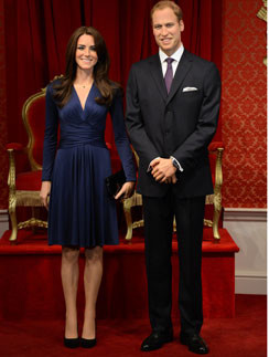 """""""Двойники"""" Кейт Миддлтон и принца Уильяма в музее мадам Тюссо в Лондоне"""