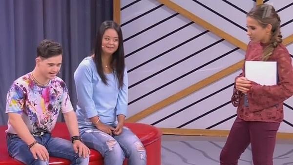 Влад Ситдиков и Мария Сиротинская в эфире передачи Первого канала