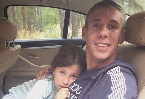 Алексей Панин с дочерью