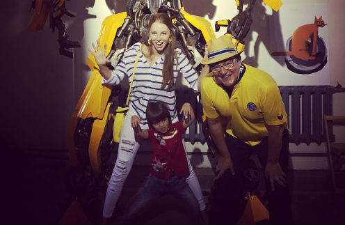 Полина и Дмитрий Дибровы с сыном Александром