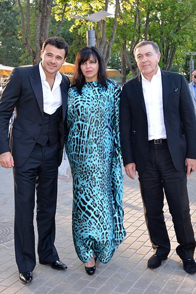 Ирина с сыном Эмином и мужем Арасом