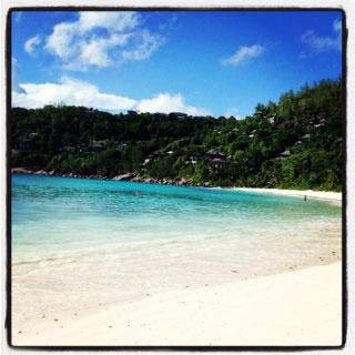 Вид частного острова, на котором мы жили