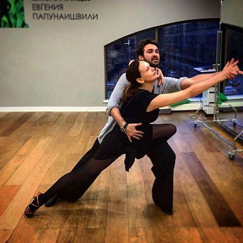 Безрукова и Петров на репетиции