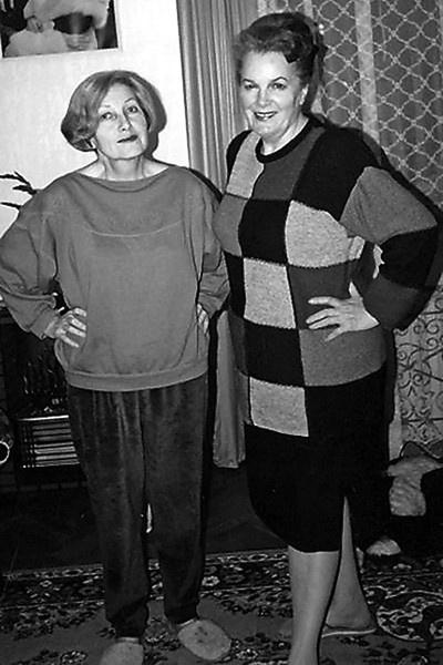Элина Быстрицкая и ее сестра Софья Шегельман
