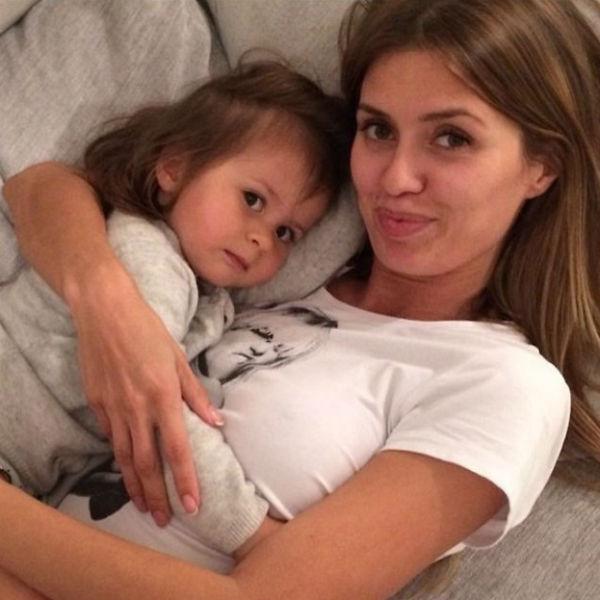 Боня с дочерью Анджелиной