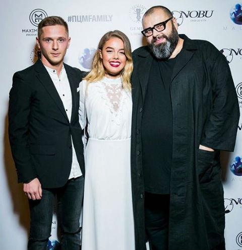 Дарья Шашина с молодым человеком и Максим Фадеев