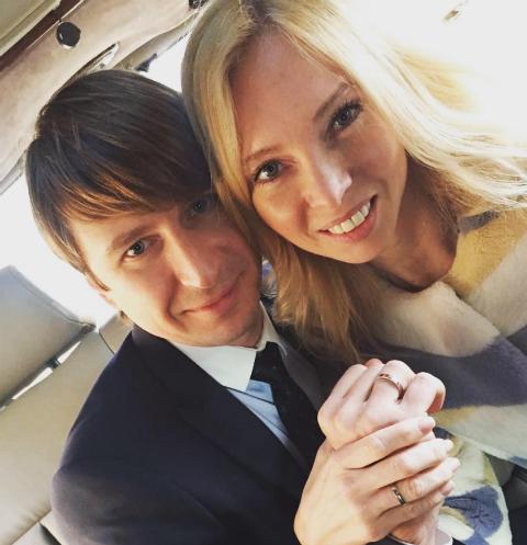 Алексей Ягудин и Татьяна Тотьмянина в день свадьбы