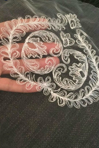 Вышивка на фате для Виктории Романец