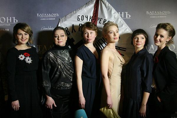 Актрисы фильма «БатальонЪ»