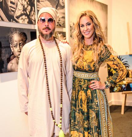 Ольга Мичи на открытии выставки «Зов Африки»
