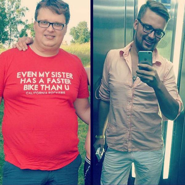 За восемь месяцев Егору удалось избавиться от 40 килограммов