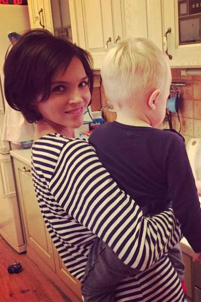 Наталья Земцова с сыном
