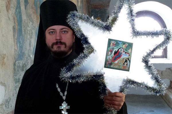 Иеромонах Фотий поздравил подписчиков микроблога с Рождеством
