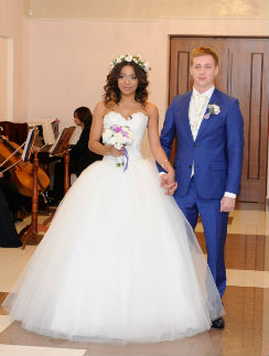 Свадьба Либерж Кпадону и Евгения Руднева была пышной