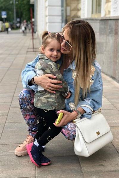 Со старшей дочерью Арианной