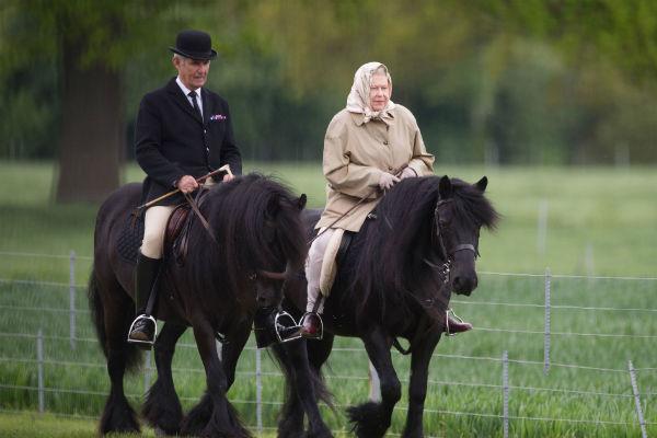 Вместо того чтобы поспешить к внучке, Елизавета II отправилась в Ньюмаркет проведать лошадей