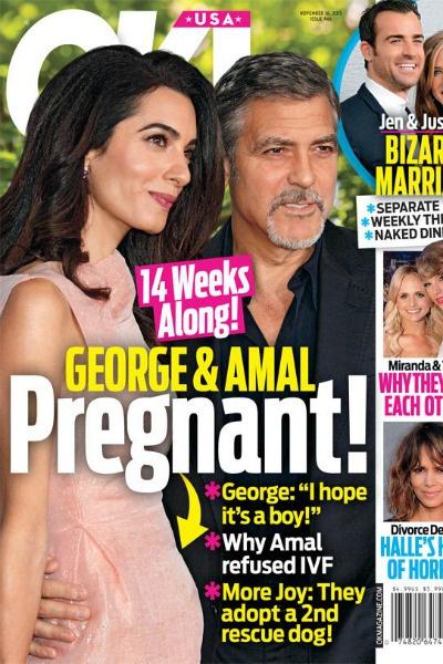 Новость о беременности Амаль подтвердил американский журнал