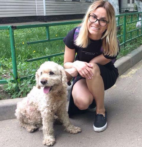 Дарья Беженар подобрала собаку с улицы