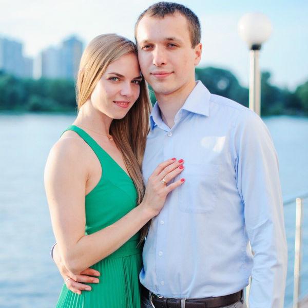 Настя и Алексей поженились два года назад