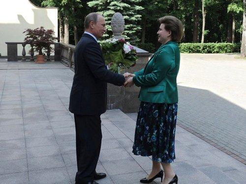 Валентина Терешкова на встрече с Владимиром Путиным