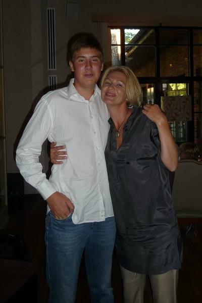 Покойная Анастасия Сосина с сыном Егором