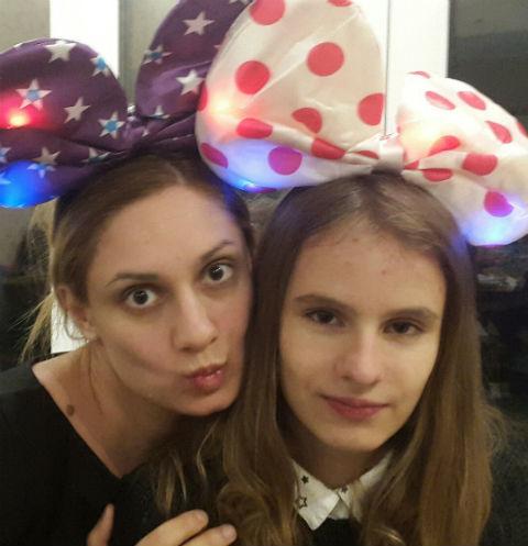 Карина Мишулина и дочь Кристина