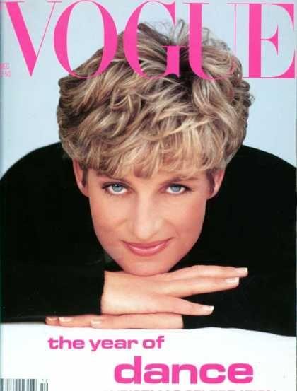 Принцесса Диана на обложке американского Vogue в 1991 году
