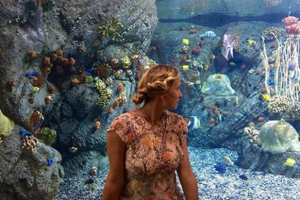 Марика сходила в аквариум после рождения второго ребенка