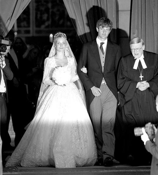 Екатерина и принц Ганноверской на собственной свадьбе, которая прошла в начале июля прошлого года