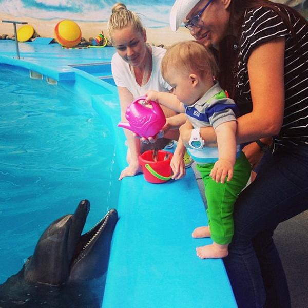 Первое занятие по дельфинотерапии
