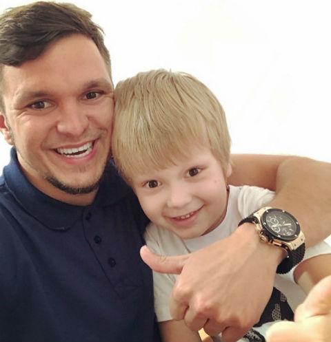 Антон Гусев с сыном Даниэлем