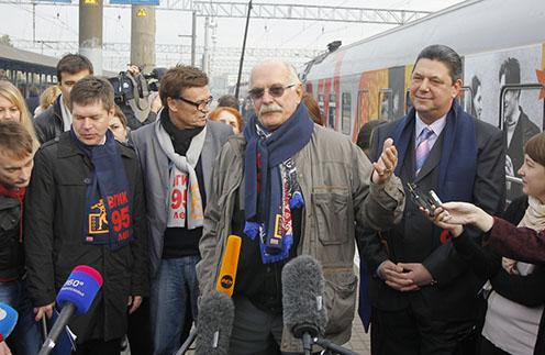 Никита Михалков отвечает на вопросы журналистов
